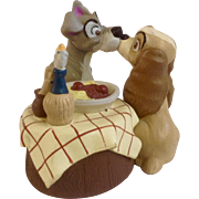 Discontinued Disney Store Lil Classics Lady & the Tramp Famous Kiss PVC Figurine