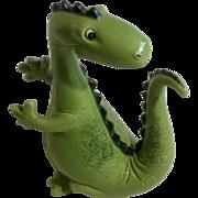 Vintage Adorable Green Dinosaur Bank Ceramic Animal Figurine Made in Japan 1970's