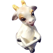 Rare Vintage Josef Originals Miniature Billy Goat Reading a Book Ceramic Japan Figurine