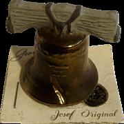 Vintage Rare Josef Originals Miniature Liberty Bell Ceramic Japan Figurine