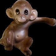 Vintage Rare Josef Originals Miniature Baby Monkey Ceramic Japan Figurine