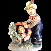 Lefton Figurine Peter Peter Pumpkin Eater Ceramic #1247 Nursery Rhyme Vintage