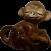 Vintage Josef Originals Miniature Happy Monkey Ceramic Japan Figurine