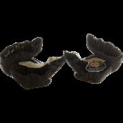 Vintage Pair Rosemeade Skunk Salt & Pepper Shakers North Dakota Pottery Figurines