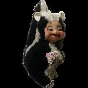 Rushton Star Creation Stuffed Animal Rubber Face Skunk Plush Atlanta Georgia Toy Company 1960's Vintage