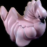 Rare Ross Originals Pink Partridge Bird Ceramic Figurine California Pottery 1953