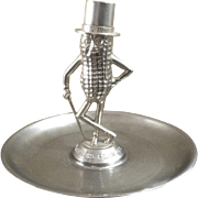 Vintage Planters Mr. Peanut 50th Anniversary Die Cast Nut Tray 1906-1956 Made in the U.S.A. Silver Tone Plating