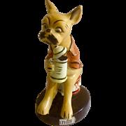 1956 Bar Hounds Boxer Dog made by Chess Japan Ceramic Figurine