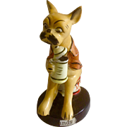 1956 Bar Hounds Boxer Dog made by Chess Japan Ceramic Figurine