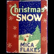 Vintage Christmas Snow Mica Flakes Fire Proof New Original Unopened Unused Box of Glitter