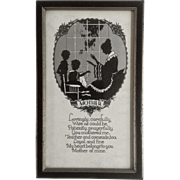 Vintage Mother Poem Silhouette 1928 Buckbee Brehm Creative Art Publishers Mothers Day Print