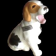 Robert Simmons California Pottery 1940's - 1950's Sleepy 2060 Puppy Dog Figurine Yawning