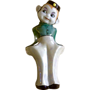Vintage Bellhop Boy Lusterware Japan Wall Pocket Ceramic Figurine