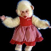 "Vintage Rushton Rubber Face Tippy Monkey Stuffed Plush Doll Girlfriend of Zippy From the Howdy Doody Show Atlanta, Ga. Toy Company 16"""