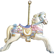 Lenox Carousel Horse Christmas Tree Ornament Retired Porcelain 1989 Missing Tassel