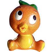 Vintage Rare Walt Disney World Production Orange Bird Florida Figurine Sitting  2""