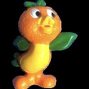 "Vintage Rare Walt Disney World Production Orange Bird Florida Figurine Standing 2-1/2"""