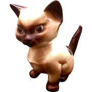 "Vintage Hagen Renaker Designers Workshop Siamese Cat Blue Eyes San Dimas Quan Tiki California Pottery Figurine 4"" Retired #660"