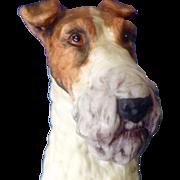 """Vintage Andrea By Sadek Fox Terrier Dog Porcelain 6"""" Figurine # 7733"""