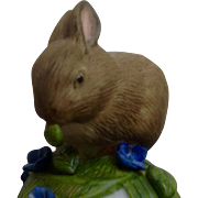 Vintage Franklin Mint, The Baby Rabbit Bell 1983 Peter Barret Animal Porcelain Figurine With Certificate