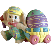Crayola  Bunny Rabbit Pulling Easter Egg Cart 1990 Hallmark Cards Collectable by Binney & Smith Co.