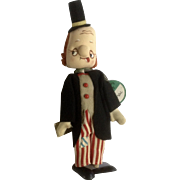 Vintage Mid-Century Dream Pets Du-Val Rare Hobo Clown Stuffed Plush Tokyo, Japan Toy