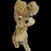 Dog Nodder Toy Glass Eyes Vintage Bobblehead Animal Tramp Puppy With Bow