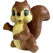 Adorable Squirrel Hand Painted Mid-Century Ceramic Figurine