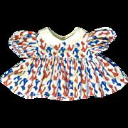 Vintage Atomic Cat Doll Dress Handmade 1960's