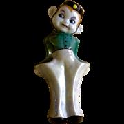 Vintage Bellhop Boy Lusterware Japan Wall Pocket Ceramic Figurine