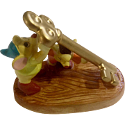 Schmid Cinderella Gus & Jaq Mice Carrying A Key Porcelain Figurine The Walt Disney Company