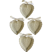 Lenox Wedding Promises Collection 4 Heart Favors, 3-1/4 inches Fine Porcelain 1992