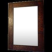 Antique Folk Art Frame 1905 Hand Made Tramp Art Wood Burned Signed and Dated