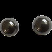 Vintage Imitation Black Pearl Earring Stud Post for Pierced Ears