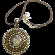 Premier Designs Large Pendant Necklace With Rhine Stones Reversible Enhancer