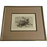 Danny Phifer, Etching, Sunday Afternoon II, Limited Edition Print Signed by Tennessee Artist 325/350