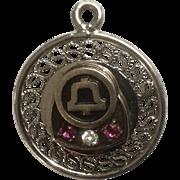 Vintage Bell Telephone Merit Award Charm for Bracelet Telco Pin Collectable