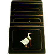 Pimpernel De Luxe Christmas Goose Traditional Collection Placemats set 8 Rectangle Cork Back Made in England