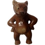 """1950s Hagen Renaker Mini Bear  Papa Bear with Paws on Hips, #A-226, 2 1/2"""", Discontinued"""