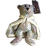 Liberace Signature Series Sequined Teddy Bear Limited Edition 1999 Bean Bag Plush Stuffed Animal Discontinued