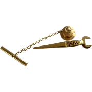 Ironworker Spud Wrench 3/4 IW Tie Tack 1/10-10K Gold Filled