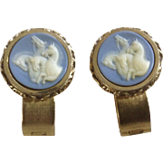 Vintage Dante Museum Masterpiece Collection Incolay Wrap Cufflinks Horses / Stallions
