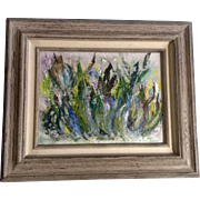 Dorothy (D.) Hall Adams, Rocky Mountain Wildflowers Impressionistic Oil Painting Signed by Artist