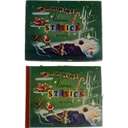 1950 Christmas Visions of St Nick in Action Pop Up Book with Original Box