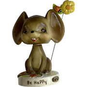 Josef Originals Be Happy Mouse Bobblehead Nodder with Ladybug Flower Figurine Japan