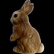 Vintage Norcrest Bunny Rabbit Sitting Ceramic Figurine A318 Japan