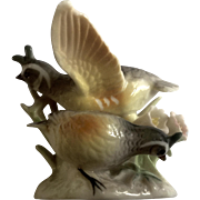 Vintage Ardalt Quail Birds Animal Ceramic Japan Figurine