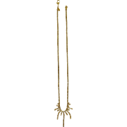 Vintage Monet Faux Diamond Gold Tone Necklace Costume Jewelry