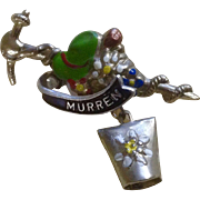 Vintage Oktoberfest Switzerland Hat Pin Murren