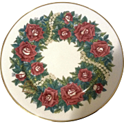 Lenox 1997 Sentiments of Roses Collection Love Limited Edition Collectors Wreath Plate